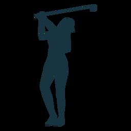 Jugador mujer club gorra pelo silueta