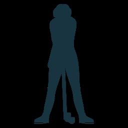 Jugador mujer club gorra falda cabello silueta