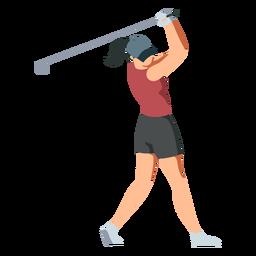 Spielerin weibliche Club Shorts T-Shirt Haarkappe Pferdeschwanz flach