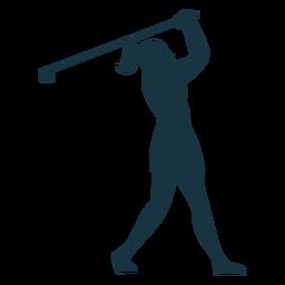 Player female club skirt cap hair ponytail silhouette