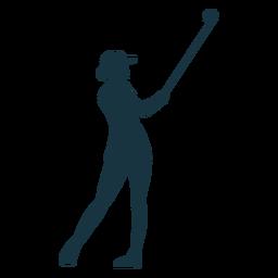 Player female club skirt cap hair silhouette