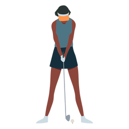Jugador femenino club falda cap t shirt cabello plano