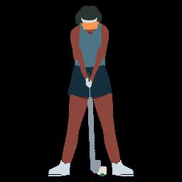 Spieler weibliche Club Rock Cap T-Shirt Haare flach