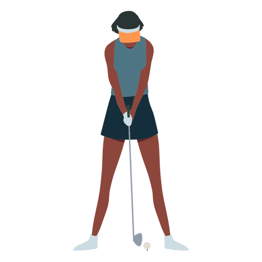 Player female club skirt cap t shirt hair flat Transparent PNG