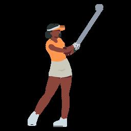 Jugador mujer club falda camiseta cabello gorra plana