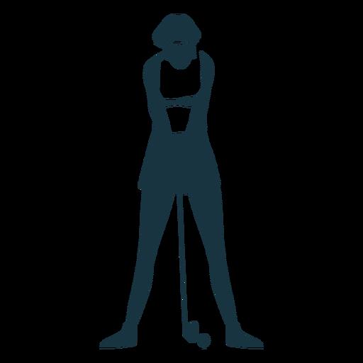 Spieler weiblich Haar Cap Shorts T-Shirt Club Ball detaillierte Silhouette Transparent PNG