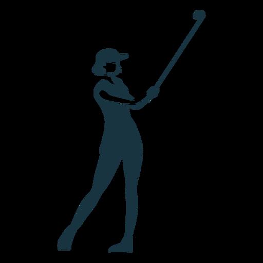 Jugador mujer pelo gorra falda camiseta club detallado silueta Transparent PNG