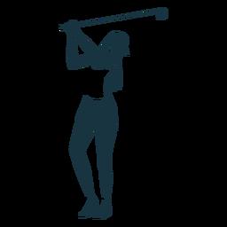 Spieler weibliche Hair Club Cap Shorts T-Shirt detaillierte Silhouette
