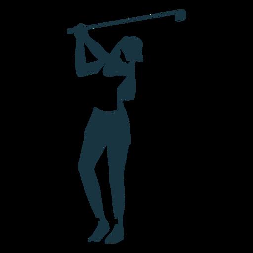 Player female hair club cap shorts t shirt detailed silhouette