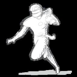 Jugador de equipo casco bola bosquejo