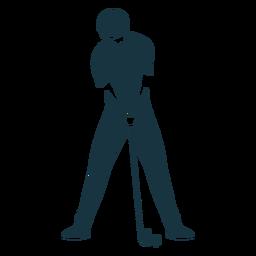 Silhueta detalhada das calças do clube da camisa do jogador