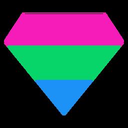 Raya plana brillante diamante polisexual
