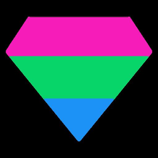 Raya plana brillante diamante polisexual Transparent PNG