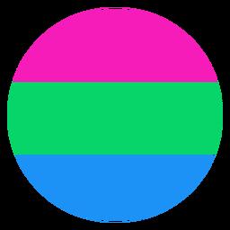 Franja polisexual del círculo plana