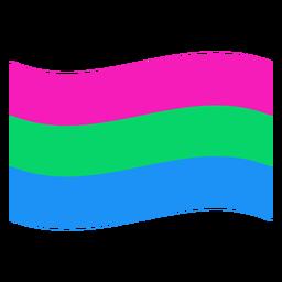 Bandera polisexual de banda plana