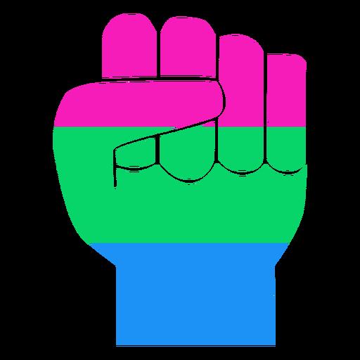Polysexual mão dedo punho tarja plana Transparent PNG