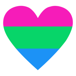 Polysexual heart stripe flat