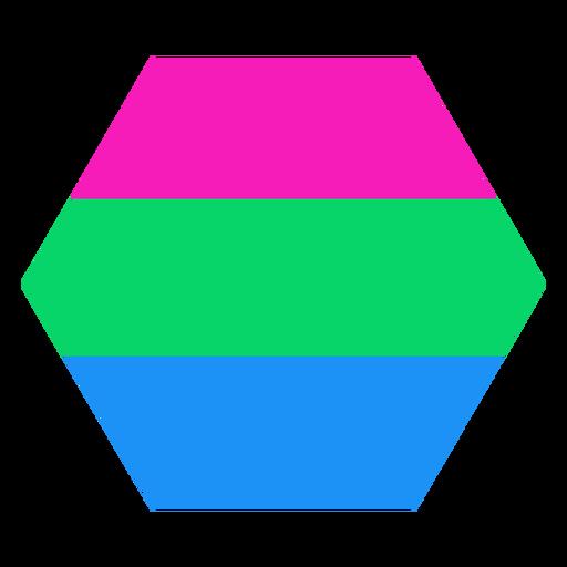 Polysexuelle Sechseck Streifen flach Transparent PNG