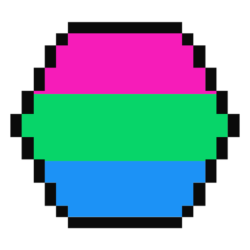 Hexágono polisexual hexagonal raya plana Transparent PNG
