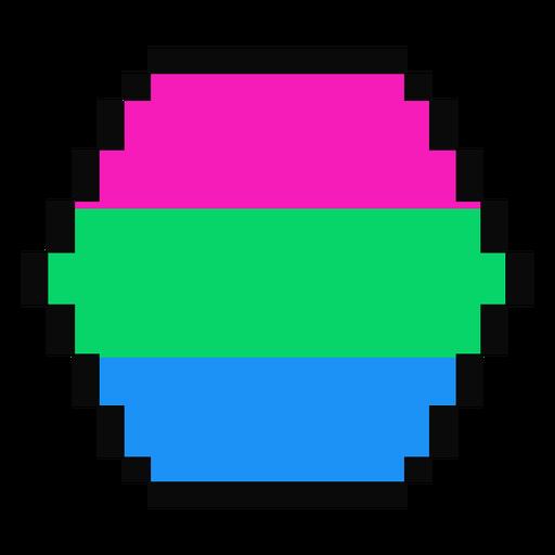 Polysexual hexagon stripe pixel flat Transparent PNG