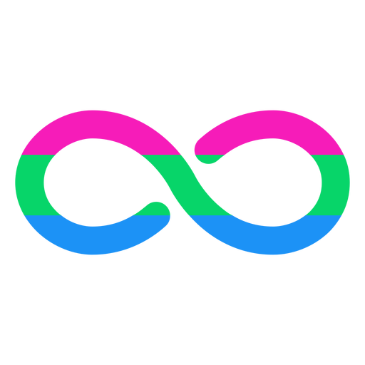 Polysexual infinity stripe flat Transparent PNG