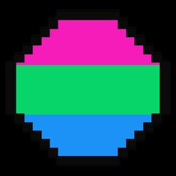 Octogás polisexual de pixel raya plana