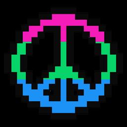 Polisexuales pacifico raya pixel plana