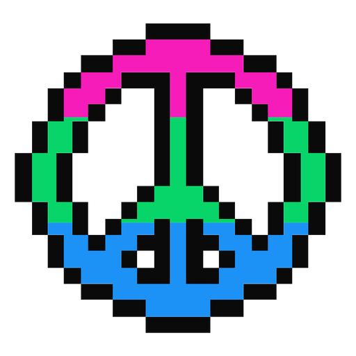 Píxeles planos de rayas pacíficas polisexuales