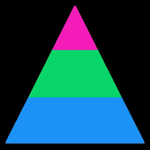 Raya triangular polisexual Transparent PNG
