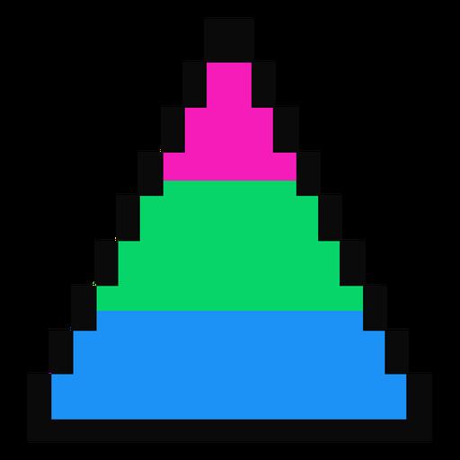 Triángulo polisexual del pixel de la raya plana Transparent PNG