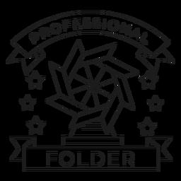 Professional folder mill star paper badge line