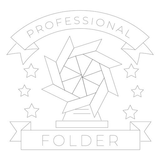Carpeta profesional molino estrella papel línea insignia Transparent PNG