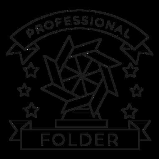 Professional folder mill star paper badge line Transparent PNG