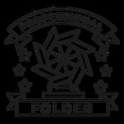 Professional folder mill star paper badge stroke
