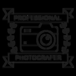 Fotógrafo profesional lente de la cámara objetivo rama insignia línea