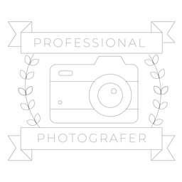 Professional photographer camera lens objective branch badge line