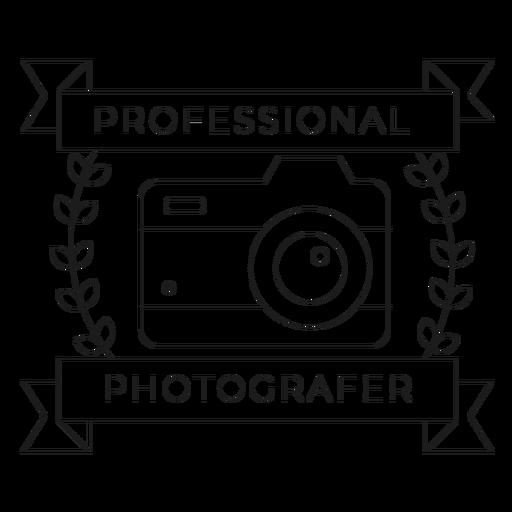 Professional photographer camera lens objective branch badge line Transparent PNG