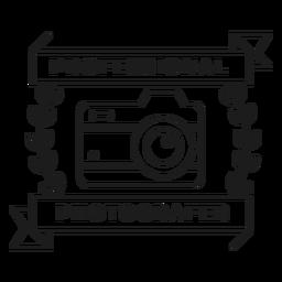 Fotógrafo profesional lente de cámara objetivo rama insignia trazo