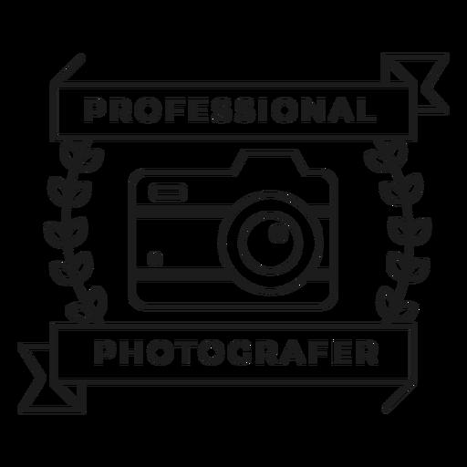 Professional photographer camera lens objective branch badge stroke