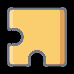 Puzzleteil flach