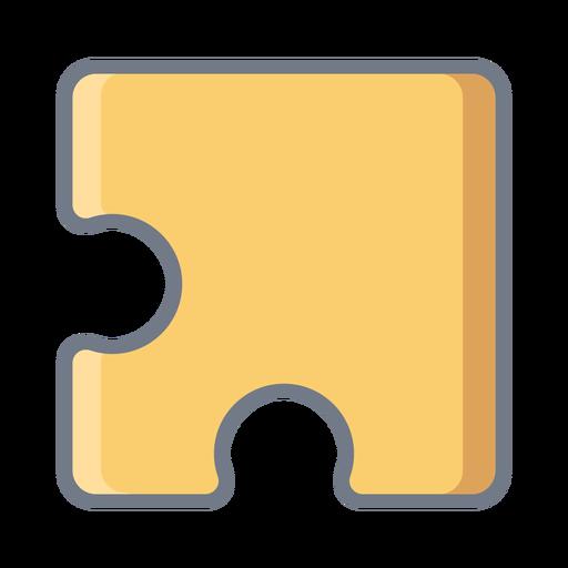Puzzle detail piece flat Transparent PNG