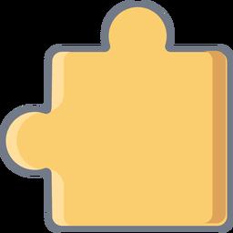 Puzzle pieza detalle plana