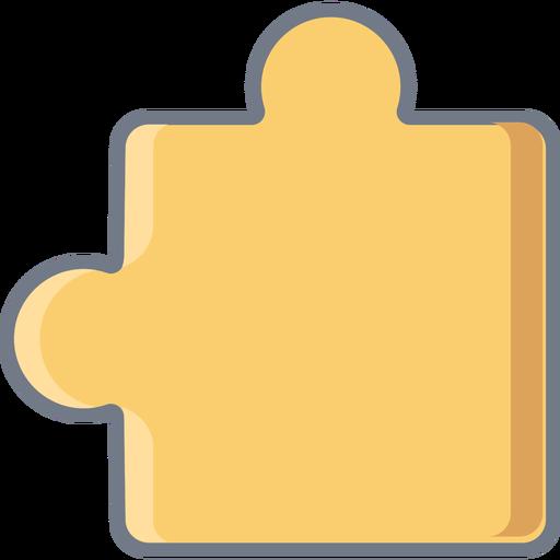 Puzzle piece detail flat Transparent PNG