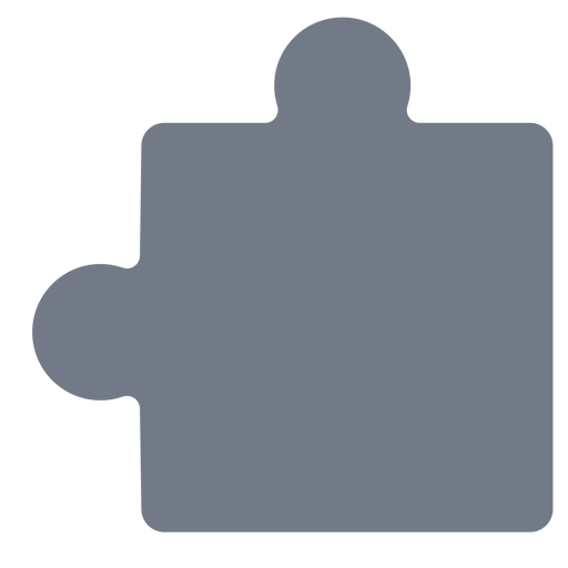 Puzzle piece detail silhouette Transparent PNG