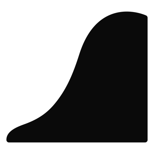 Q mountain hill descent silhouette Transparent PNG