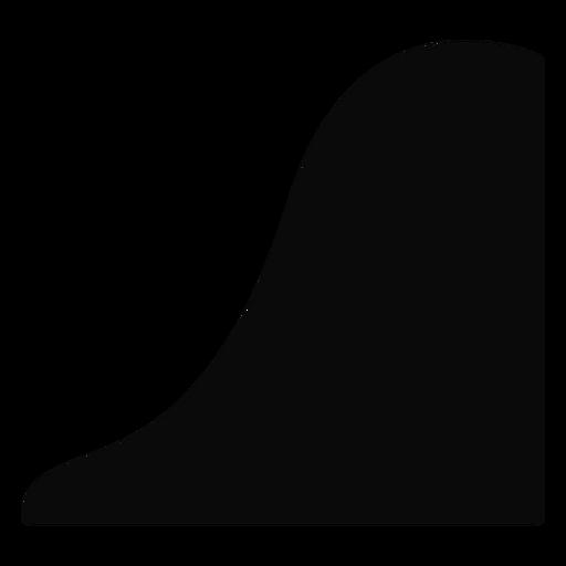 Silhueta de descida de colina de montanha Q Transparent PNG