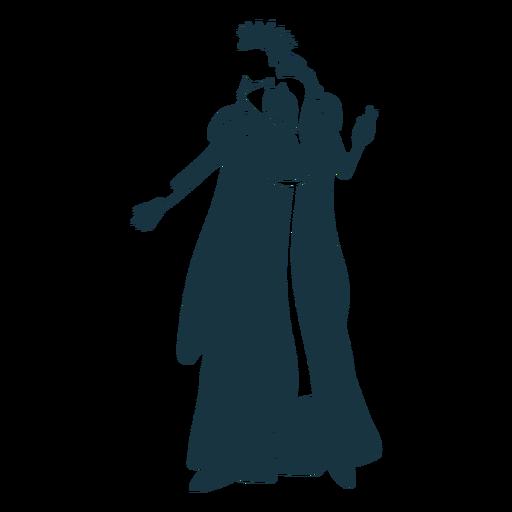 Queen crown mantle glove dress detailed silhouette