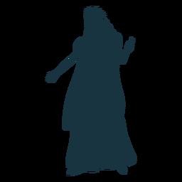 Königin Krone Mantel Handschuh Kleid Silhouette
