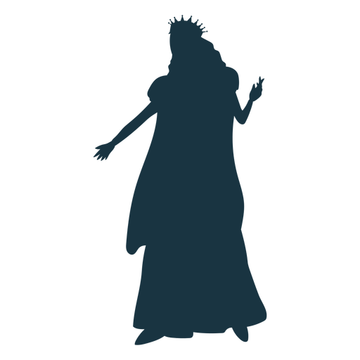 Queen crown mantle glove dress silhouette Transparent PNG