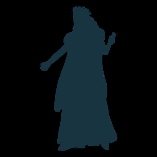 Queen crown mantle glove dress silhouette